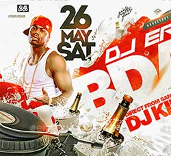 DJ派对海报/传单PSD模板:Dj Bday Flyer Template