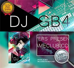 DJ音乐艺术海报:Dj GB4 PSD Flyer Template