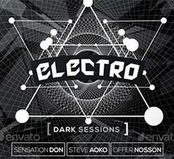 电子音乐派对传单/海报模板:Electro Dark Session Flyer & Poster Template