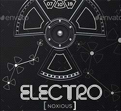 电子音乐派对传单/海报模板:Electro Noxious - Flyer & Poster Template