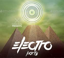 电子音乐派对传单/海报模板:Electro Party Flyer - Poster Template