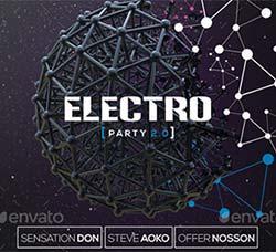 电子音乐派对传单/海报模板:Electro Party Flyer & Poster Template