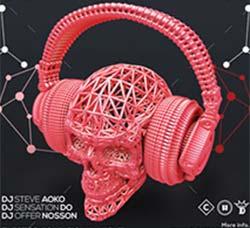 电子音乐派对传单/海报模板:Electro Psycho Poster - Flyer Template