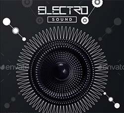 电子音乐派对传单/海报模板:Electro Sound Flyer - Poster Template