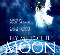 飞向月球/嫦娥奔月海报/传单PSD模板:Fly Me to the Moon Movie Poster Template