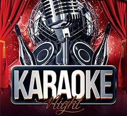 卡拉OK歌唱比赛传单模板:Karaoke Night – Flyer PSD Template + Facebook C