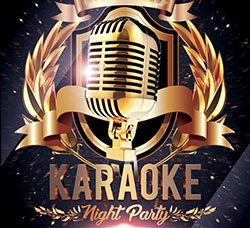 精美的卡拉OK海报传单PSD模板:Karaoke Night Party V02