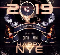 2019新春海报传单PSD模板:New Year Eve Flyer Template