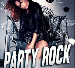 摇滚音乐传单模板:Party Rock Flyer PSD Template + Facebook Cover
