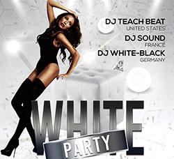 性感美女派对海报/传单PSD模板:White party - Premium flyer psd template