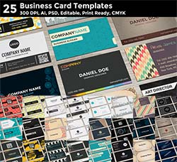 25套商业名片模板:25 Business Card Templates