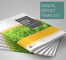 indesign模板-年度报告手册(24页/2种规格/EPS图标文件):Annual Report Template