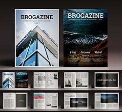 indesign模板-商业杂志(32页/建筑类):Brogazine Indesign Template