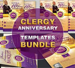 周年庆典广告合集:Clergy Anniversary Templates Bundle
