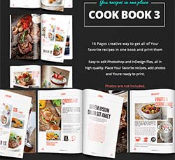 indesign模板-烹饪秘笈(食谱/16页):Cook Book - Recipes vol 3