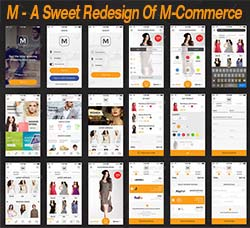 UI设计-产品销售(商城类):M - A Sweet Redesign Of M-Commerce