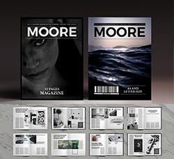 indesign模板-商业杂志(32页/旅游类):Moore Magazine Indesign Template