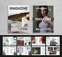 indesign模板-商业杂志(32页/通用型):Multipurpose Magazine 7 Template