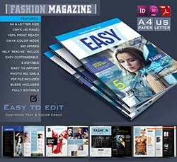 indesign模板-商业杂志(40页/通用型):Multipurpose Magazine Template