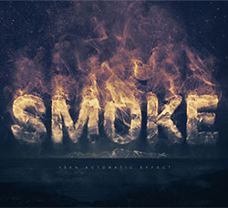 逼真的烟雾字效PSD模板:Real Smoke Logo Text Effect