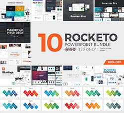 PPT模板-商务专用(10套合集):Rocketo Powerpoint Templates Bundle