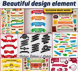 25套精美的标签:Beautiful design element - 25x EPS