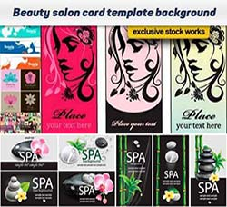 美容保健行业专用素材:Beauty salon card template vector background