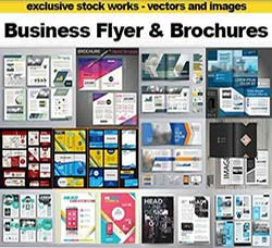 30个矢量的企业手册和传单模板:Business Flyer and Brochures - Design Collec