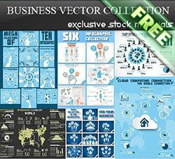 信息图表:Business Vector Collection