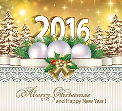 25个精美的新年和圣诞素材:Christmas and new year, holidays vector backgr