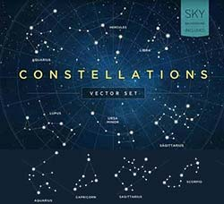 44个矢量的星座素材:Constellations Vector Set