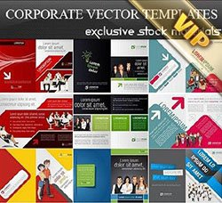 画册/宣传单模板:Corporate Vector Templates