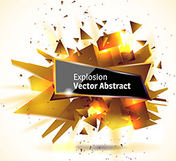 抽象闪耀的矢量3D爆破素材(第二套):Explosion Vector Abstract vol.2
