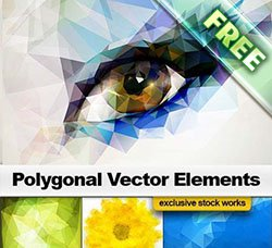晶格化图案:Polygonal Vector Elements