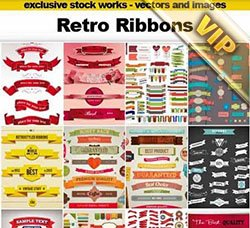 标签:Retro Ribbons