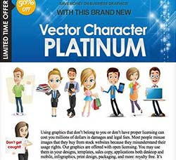 矢量卡通插画白金合集:Vector Character PLATINUM Bundle