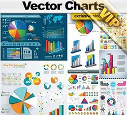 信息数据图表:Vector Charts Collection