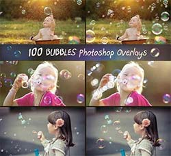 107张高清的泡沫图片:107 Bubbles Photoshop Overlays