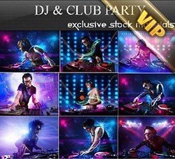 高清DJ人物图片:DJ and Club Party 25xUHQ