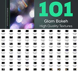101张高清的散景光斑图片:Glam Bokeh - High Quality Textures