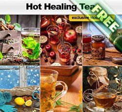高清的配料大料图片:Hot and Healing Tea