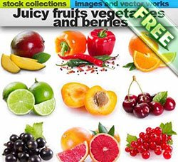 高清水果图片:Juicy fruits vegetables and berries 25xUHQ