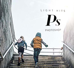 30张高清16位色深镜头光晕图片:Photoshop Lens Distortions - Light Hits 16 Bit