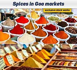 高清配料大料图片:Spices in Goa markets 8x JPEG