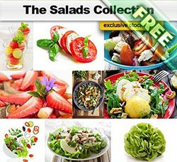 高清蔬菜图片:The Salads Collection