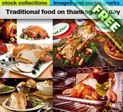 高清美食图片:Traditional food on thanksgiving day 25xUHQ