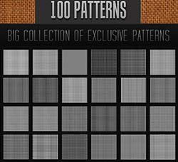 PS图案-100个迷你抽丝:100 Mini Pattern Collection 4