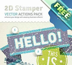 AI动作:2D Trash Stamper Vector Actions Pack