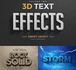 PS图层样式/3D文本模型:3D Text Effects Vol.2