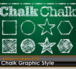 illustrator图形样式-粉笔风格:Chalk Board Illustrator Graphic Style